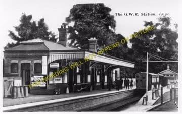 Calne Railway Station Photo. Stanley Bridge and Chippenham Line. GWR. (6)