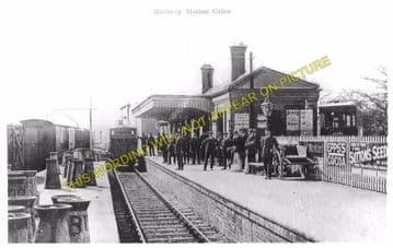 Calne Railway Station Photo. Stanley Bridge and Chippenham Line. GWR. (7)