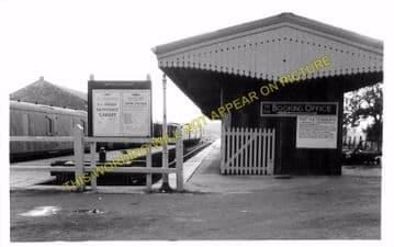Calne Railway Station Photo. Stanley Bridge and Chippenham Line. GWR. (9)
