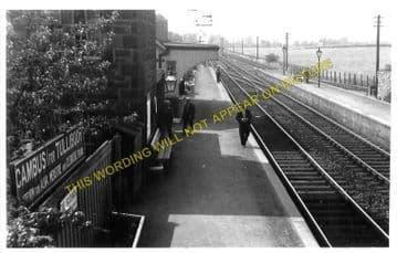 Cambus Railway Station Photo. Alloa to Stirling and Alva. North British Rly. (3)