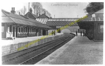 Cambuslang Railway Station Photo. Newton - Rutherglen. Caledonian Railway. (2)