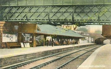Cambuslang Railway Station Photo. Newton - Rutherglen. Caledonian Railway. (4)