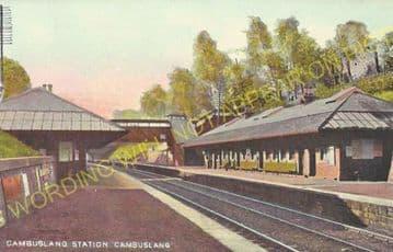 Cambuslang Railway Station Photo. Newton - Rutherglen. Caledonian Railway. (6)