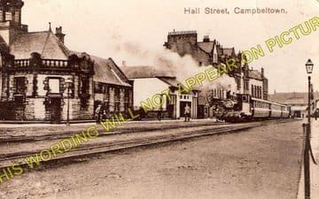 Campbeltown Railway Station Photo. Campbeltown & Machrihanish Railway. (1)..