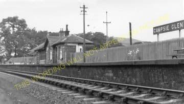 Campsie Glen Railway Station Photo. Lennoxtown - Strathblane. Killearn Line. (1)