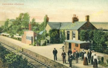 Canonbie Railway Station Photo. Riddings - Gilnockie. Langholm Line. NBR. (4)