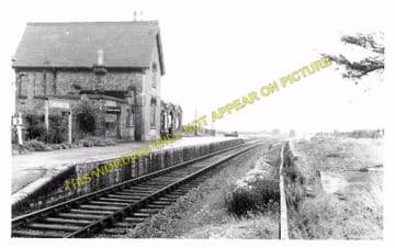 Cardington Railway Station Photo. Bedford - Southill. Hithin Line. Midland. (1)