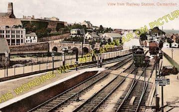 Carmarthen Railway Station Photo. Great Western Railway. (1)
