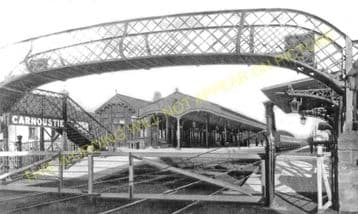 Carnoustie Railway Station Photo. Barry Links - East Haven. Dundee Line. (1)..
