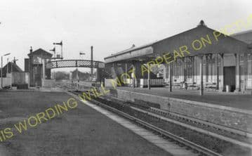 Carnoustie Railway Station Photo. Barry Links - East Haven. Dundee Line. (4)