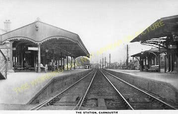 Carnoustie Railway Station Photo. Barry Links - East Haven. Dundee Line. (5)