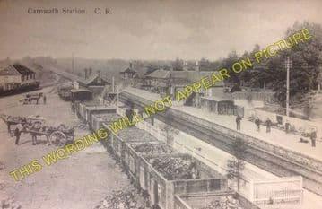 Carnwath Railway Station Photo. Carstairs - Auchengray. Caledonian Railway. (2).
