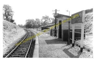Carreghofa Railway Station Photo. Llanymynech - Llansantffraid. (1)