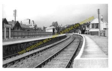 Carron Railway Station Photo. Aberlour - Knockando. Craigellachie Line. (1)..