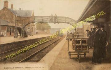 Castle Douglas Railway Station Photo. Dalbeattie - Bridge of Dee. (11).