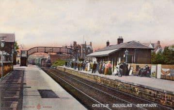 Castle Douglas Railway Station Photo. Dalbeattie - Bridge of Dee. (6)