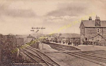 Castle Douglas Railway Station Photo. Dalbeattie - Bridge of Dee. (9)
