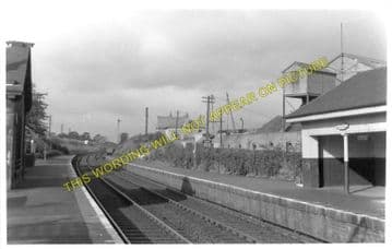 Castlecary Railway Station Photo. Greenhill - Dullatur. Falkirk to Lenzie. (1).