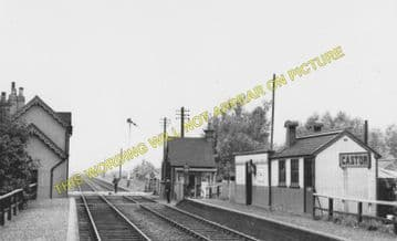 Castor Railway Station Photo. Wansford - Orton Waterville. Peterborough Line (6)