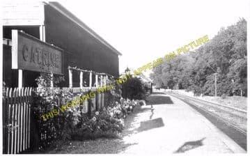 Catrine Railway Station Photo. Mauchline Line. Glasgow & South Western Rly. (4)