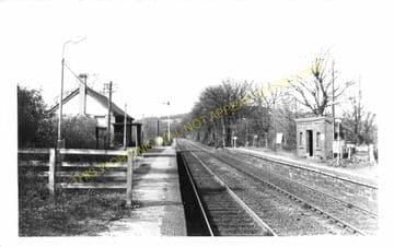 Cefn y Bedd Railway Station Photo. Gwersyllt- Caergwrle Castle. Wrexham Line (2)