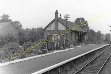 Cefn y Bedd Railway Station Photo. Gwersyllt- Caergwrle Castle. Wrexham Line (4).