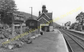 Cemmes Road Railway Station Photo. Llanbrynmair - Machynlleth. Cambrian Rly. (14)