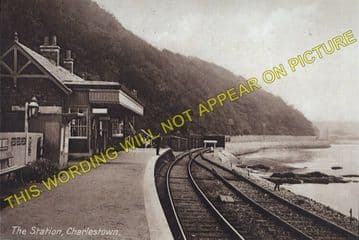 Charlestown Railway Station Photo. Braeside and Dunfermline Line. NBR. (1)