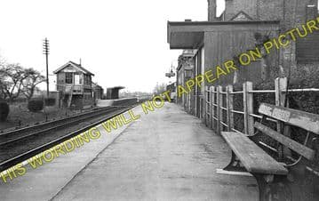 Chatteris Railway Station Photo. Wimblington - Somersham. March to St. Ives. (1)