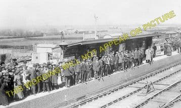 Chatteris Railway Station Photo. Wimblington - Somersham. March to St. Ives. (11).