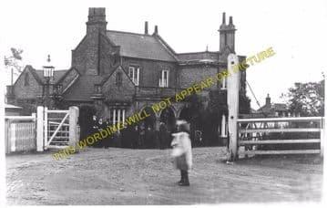 Chatteris Railway Station Photo. Wimblington - Somersham. March to St. Ives. (4)