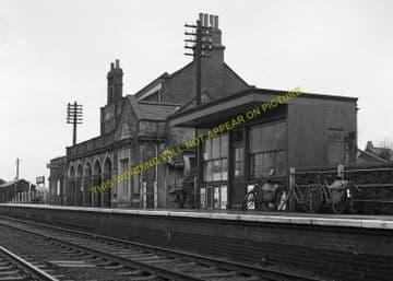Chatteris Railway Station Photo. Wimblington - Somersham. March to St. Ives. (7)