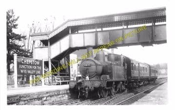 Chepstow Railway Station Photo. Portskewett to Tidenham and Woolaston Lines (5)