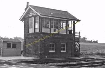 Chettisham Railway Station Photo. Ely - Manea. March Line. Great Eastern Rly (4)