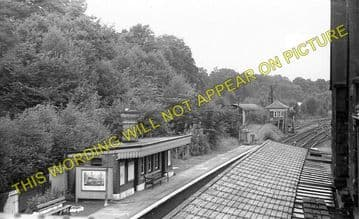 Chirk Railway Station Photo. Whitehurst - Preesgweene. Ruabon to Gobowen. (2)