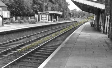 Chirk Railway Station Photo. Whitehurst - Preesgweene. Ruabon to Gobowen. (7)