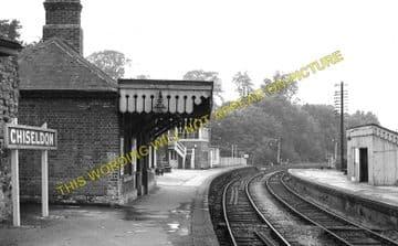 Chiseldon Railway Station Photo. Swindon - Ogbourne. Savernake Line. MSWJR. (1)
