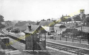 Chiseldon Railway Station Photo. Swindon - Ogbourne. Savernake Line. MSWJR. (13)
