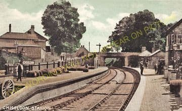 Chiseldon Railway Station Photo. Swindon - Ogbourne. Savernake Line. MSWJR. (15)