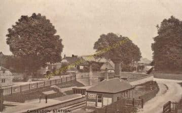 Chiseldon Railway Station Photo. Swindon - Ogbourne. Savernake Line. MSWJR. (7)