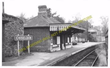 Chiseldon Railway Station Photo. Swindon - Ogbourne. Savernake Line. MSWJR. (9)