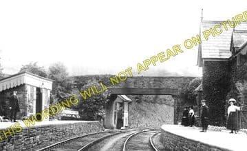 Church Road Railway Station Photo. Rhiwderin - Machen. Bassaleg to Bedwas (1)