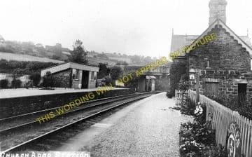 Church Road Railway Station Photo. Rhiwderin - Machen. Bassaleg to Bedwas (2)