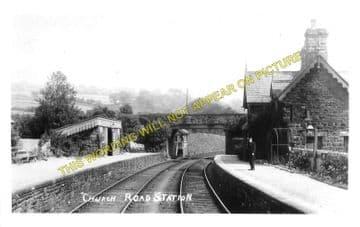 Church Road Railway Station Photo. Rhiwderin - Machen. Bassaleg to Bedwas (3)