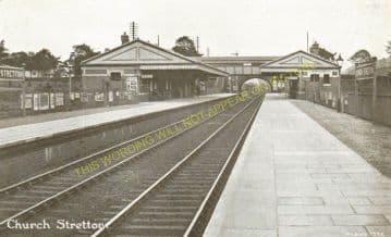 Church Stretton Railway Station Photo. Leebotwood - Marsh Brook. (8)