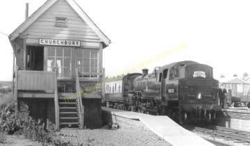 Churchbury Railway Station Photo. Edmonton - Forty Hill. Cheshunt Line. (3)