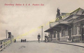 Churchbury Railway Station Photo. Edmonton - Forty Hill. Cheshunt Line. (5)
