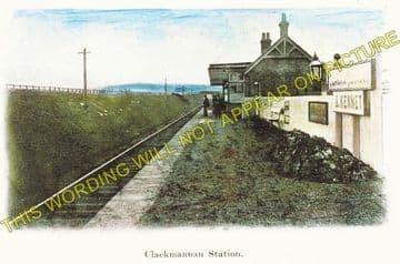 Clackmannan & Kennet Railway Station Photo. Alloa - Kilbagie. Kincardie Line (2)