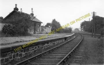 Cleland Railway Station Photo. Holytown - Newmains. Caledonian Railway. (1)..