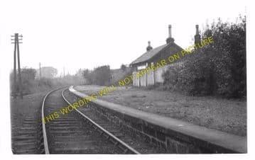 Cleland Railway Station Photo. Holytown - Newmains. Caledonian Railway. (2)